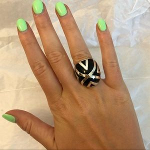 Black & Silver Statement Ring